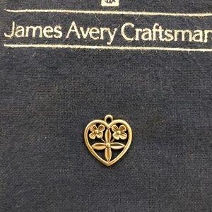 Retired James Avery flower heart charm